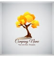 Company business logo with geometric yellow tree vector image
