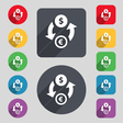 Currency exchange icon sign A set of 12 colored vector image vector image