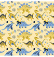 cute childish seamless pattern with vector image