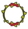 decorative flowers frame vector image vector image