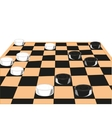Desk game of checkers vector image