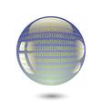 digital sphere vector image