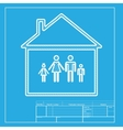 Family sign White section of icon on vector image vector image