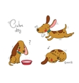 Funny cartoon dogs vector image