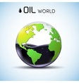 glasses world oil stock background concept vector image vector image