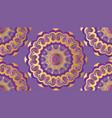 golden floral patterns vector image