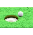 Golf ball on a tee simple golf background vector image vector image