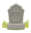 Grave isolated Old gravestone with cracks vector image vector image