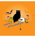 Halloween background with owl vector image vector image