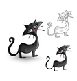Halloween monsters isolated spooky black cats set vector image vector image