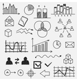 Hand drawn business doodle sketches elements vector image vector image