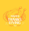 happy thankgiving day american holiday vector image