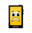 isolated sad cellphone emote vector image vector image