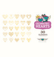 line icons of heart vector image vector image