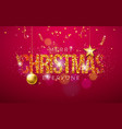 merry christmas on shiny bright vector image vector image