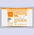 mock up web page browser vector image vector image