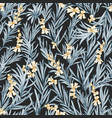 natural seamless pattern with blooming rosemary vector image vector image