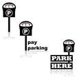 Parking meter vector image vector image