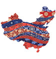 people s republic china map vector image vector image