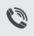 phone icon flat vector image vector image