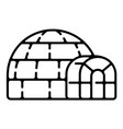 polar igloo icon outline style vector image
