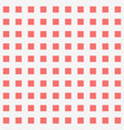red square dot pattern background vector image vector image