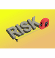 risk vector image