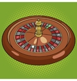 Roulette in casino pop art style vector image vector image