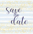 save date pastel white and blue background vector image
