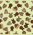 seamless pattern background animal wildlife vector image