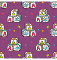 seamless pattern with baby toy blocks vector image