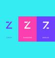 set letter z minimal logo icon design template vector image vector image