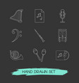 set of music icons line style symbols with maracas vector image vector image