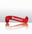 set of red scrollsbanner labelwrapped paper vector image