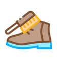 shoe brushing icon outline vector image vector image