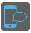 Smartphone Message Balloon Rounded Square vector image vector image