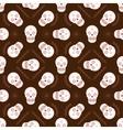 Sugar skull seamless pattern vector image