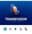 Transfusion icon in different style vector image vector image