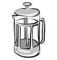 transparent tea pot on white background vector image