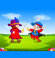 two musketeer with sword vector image vector image