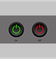 two power buttons on black and gray background vector image