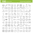 universal inerface icons vector image vector image