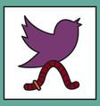 unusual look tweet bird logotwitter icon vector image vector image