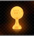 winner golf cup award golden trophy logo isolated vector image vector image