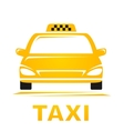 yellow taxi car vector image vector image