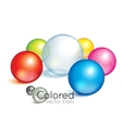 Bright collection of colorful balls vector image