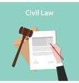 civil law concept a business man hand vector image