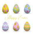 decorative easter eggs easter scenethe main vector image