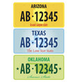 registration plates of united states vector image