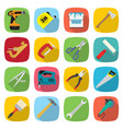 set of industrial tools and equipment colored vector image